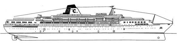 Costa riviera nave da crociera gruppo di cultura navale for Costa neoriviera piano nave